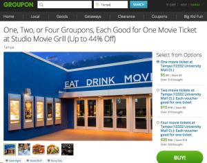 Family Fun in Tampa Bay Studio Movie Grill Tampa