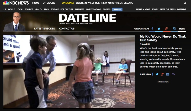 Dateline NBC: My Kid Would Never Do That Gun Safety. – Teach. Hope. Pray.