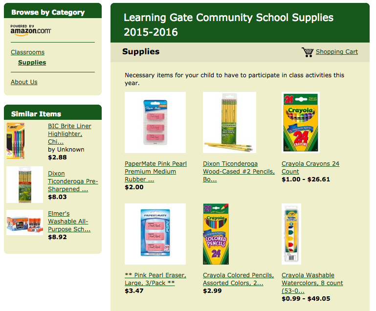 Shop For School Supplies Today!