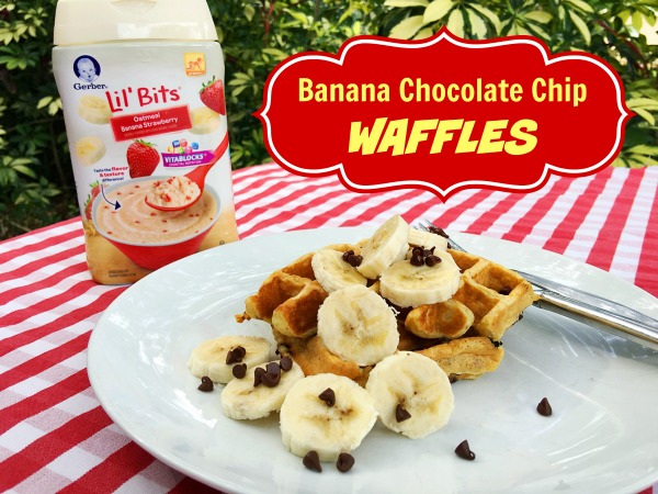 Banana Chocolate Chip Waffles 600 x 450
