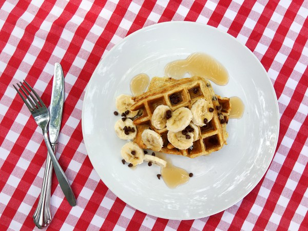 Banana Chocolate Chip Waffles by Tampa Mama