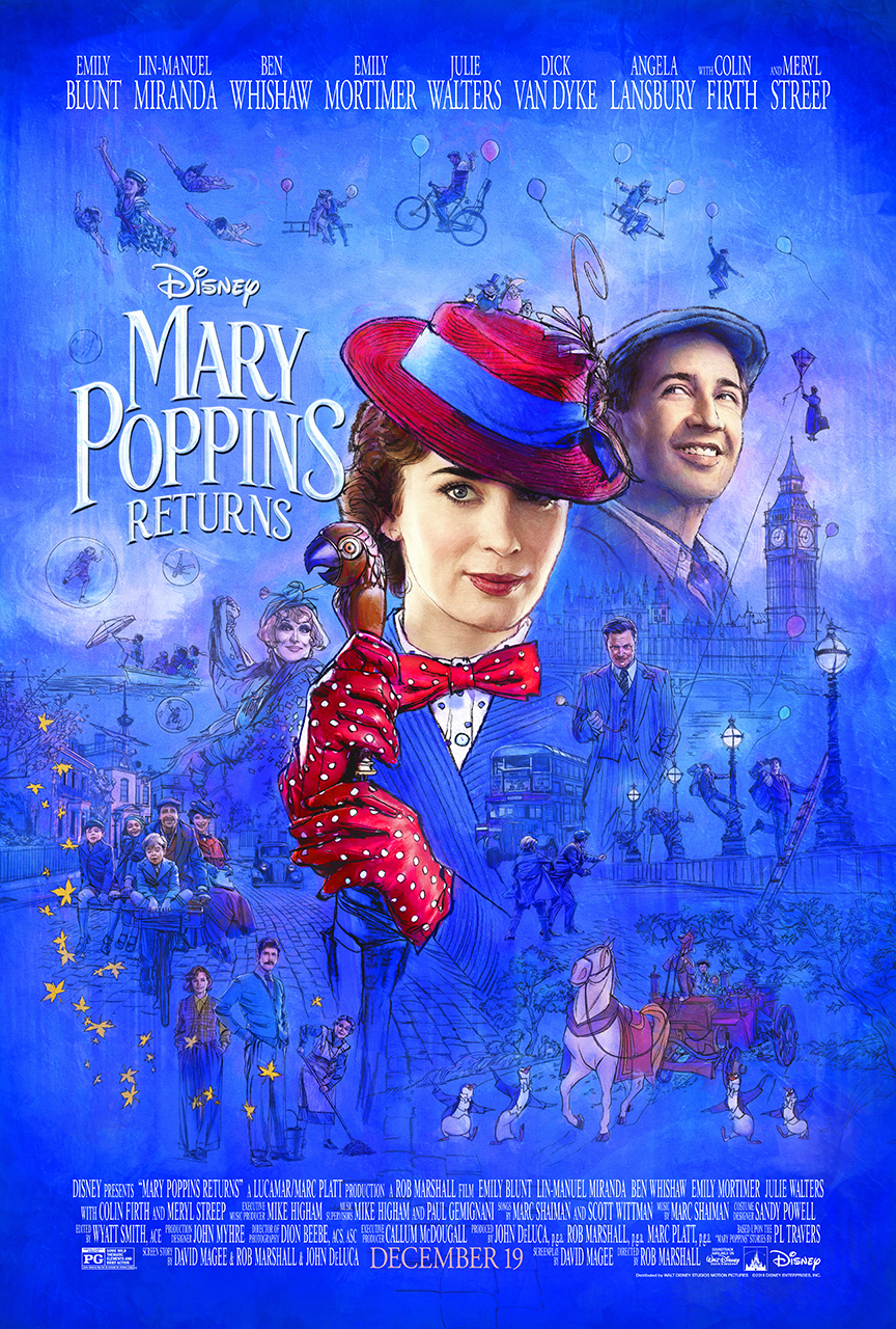 Mary Poppins Returns on December 19th, 2018 #MaryPoppinsReturns