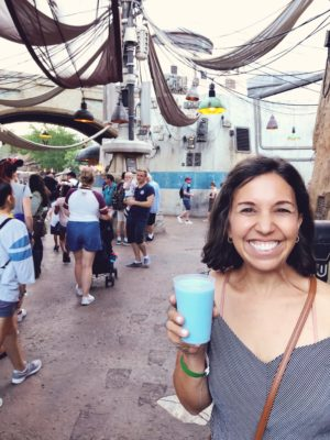 Blue Milk at Star Wars Galaxy's Edge