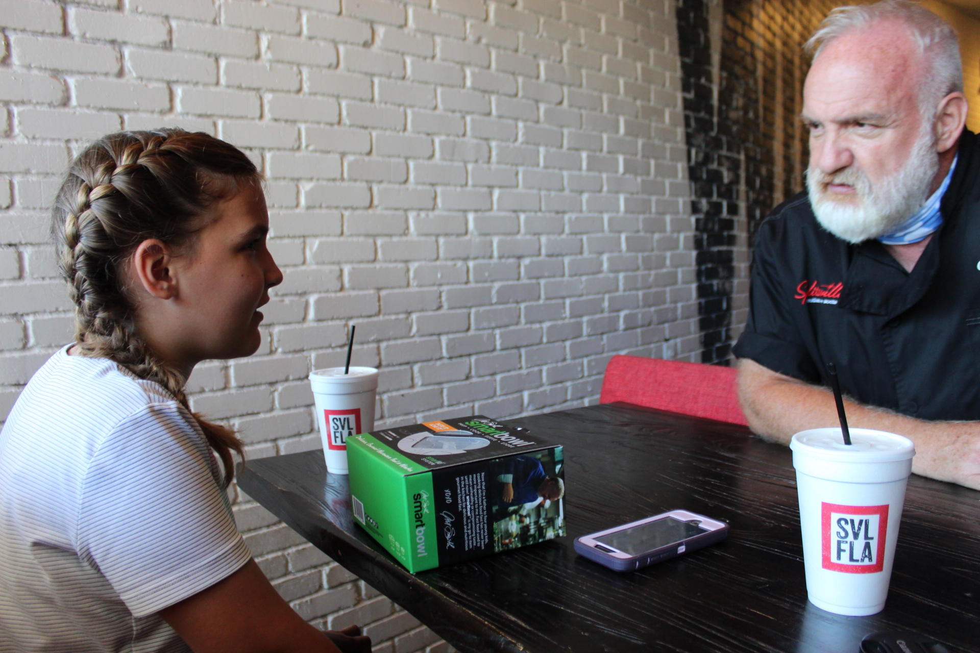Chef Art Smith And Shelby Langford talk at Splitsville Southern and Social